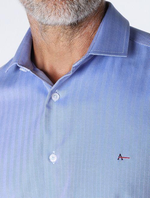 Camisa Maquinetada Azul