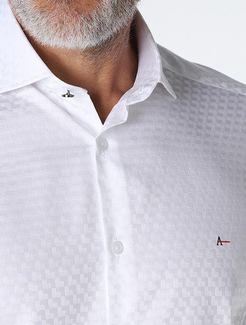 Camisa Night x Jacquard Branco