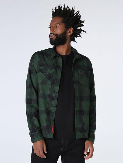 Camisa Overshirt Xadrez Verde
