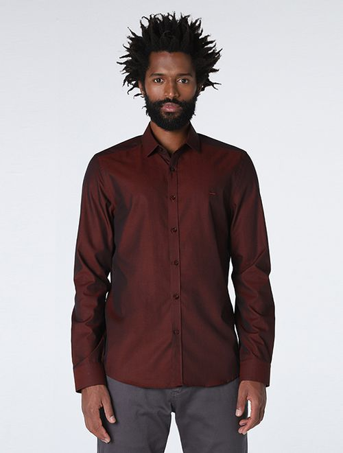 Camisa Manga Longa Liquid Repeller Super Slim Vinho