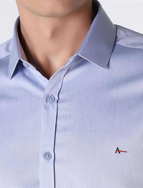 Camisa Manga Longa Liquid Repeller Super Slim Azul Claro