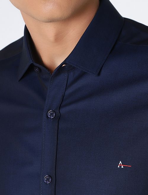 Camisa Manga Longa Liquid Repeller Super Slim Marinho