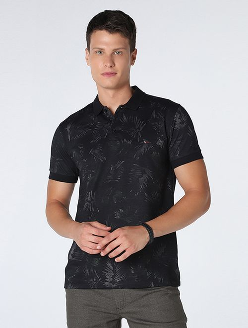 Polo Folhagem Total Night Preto