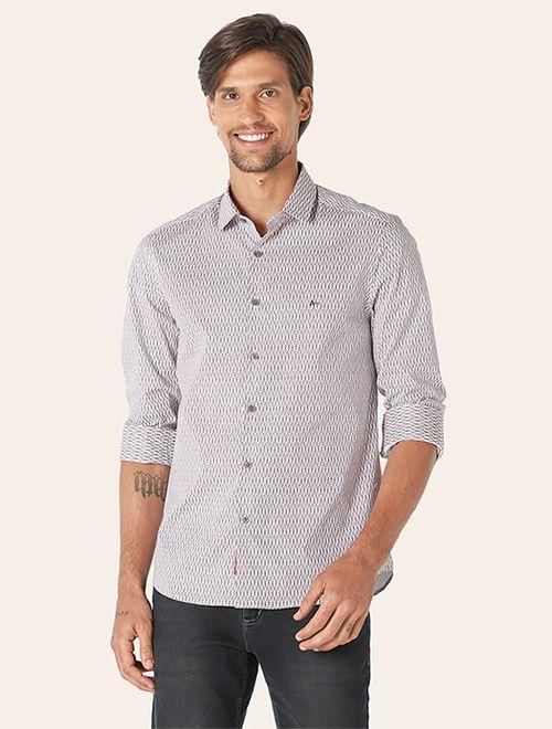 Camisa Menswear Super Slim Wire Branco