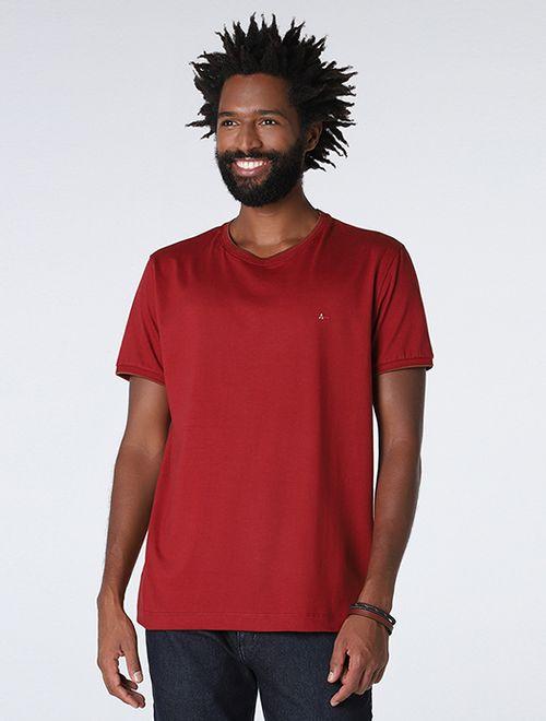 Camiseta Lisa Com Jacquard