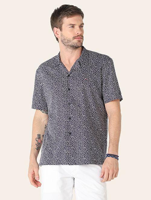 Camisa Jeanswear Slim Resort Geometria Marinho
