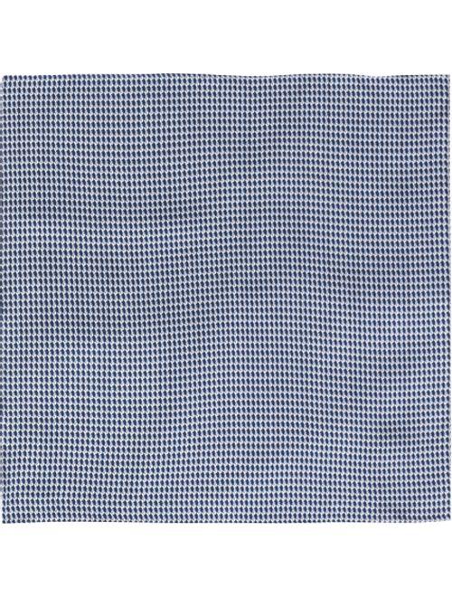 Lenco Gravataria Bicolor De Seda Azul