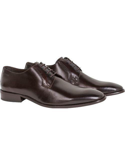 Sapato Social Classico C/ Amarracao Marrom