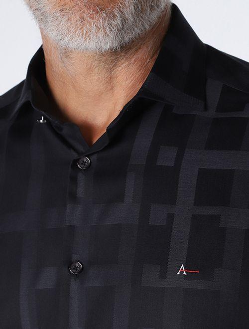 Camisa Night x Jacquard Geometria