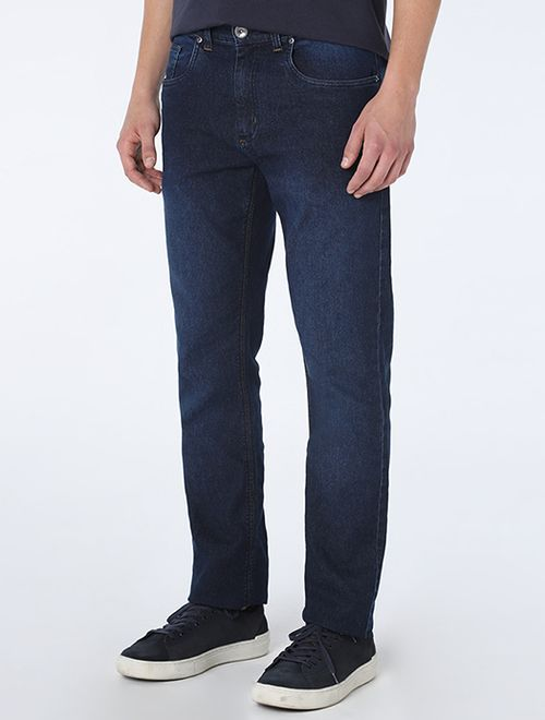 Calça Jeans Barcelona Travete Detalhe Pa Azul