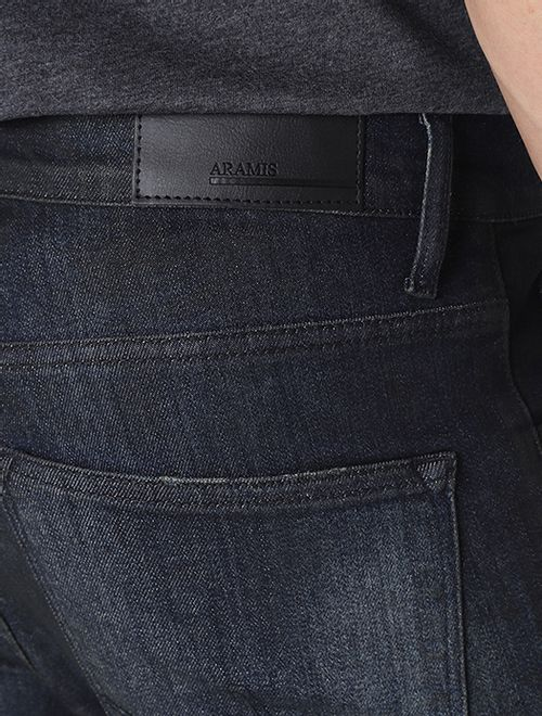Calça Jeans Skinny Resinada Azul
