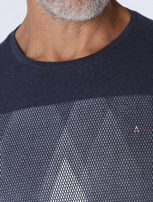 Camiseta Mescla Logo Pixel Marinho