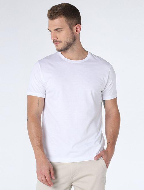 Camiseta Algodao Pima Sem Bordado Branco