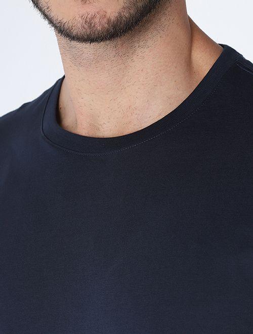 Camiseta Algodao Pima Sem Bordado Marinho