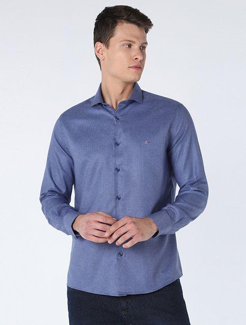 Camisa Jacquard Navy