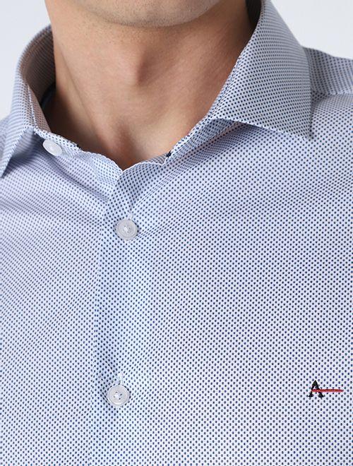 Camisa Miniprint Azul