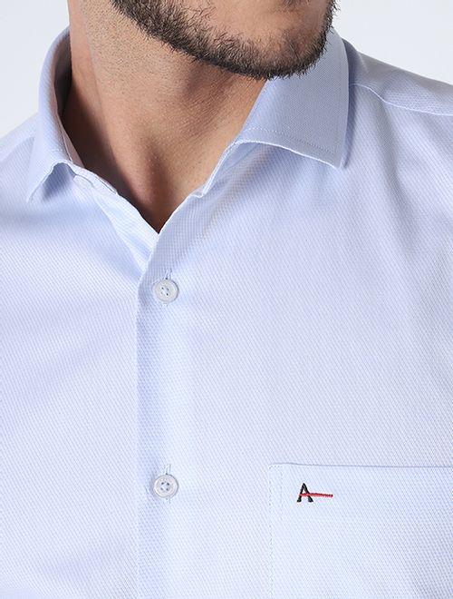 Camisa Social Cotton Azul Claro