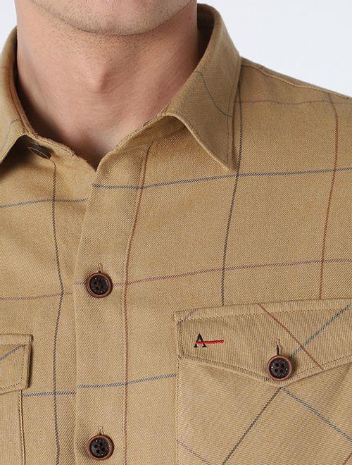 Camisa Overshirt Camel Caqui