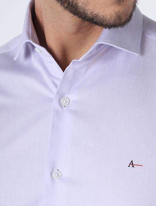 Camisa Social Super Slim Classica Lilas