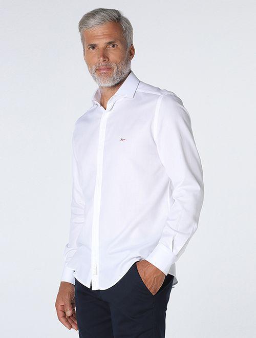 Camisa Night x Maquinetada Zig Zag Branco