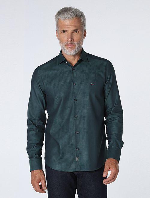 Camisa Night Slim Jacquard Fio 70