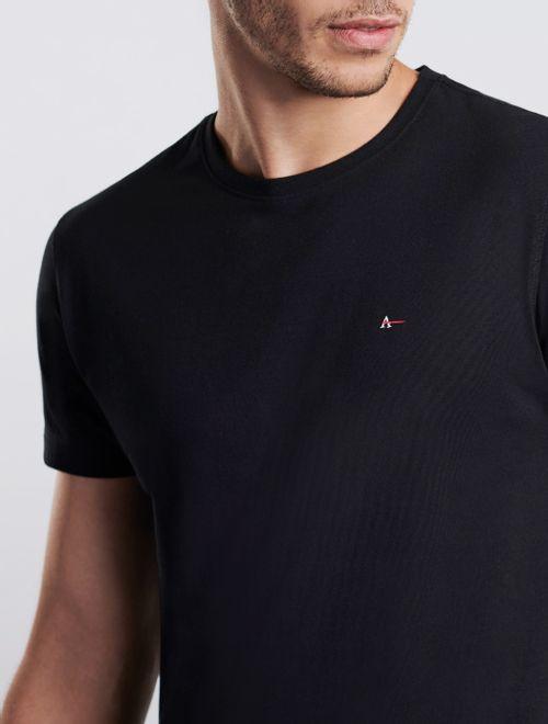 Camiseta Manga Curta Malha Antiviral Preto