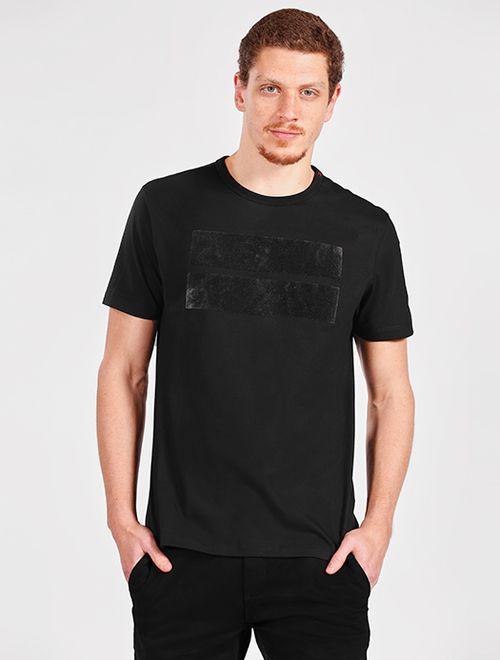 Camiseta Estampa Geométrica Preto
