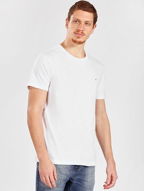 Camiseta Manga Curta Malha Antiviral Branco