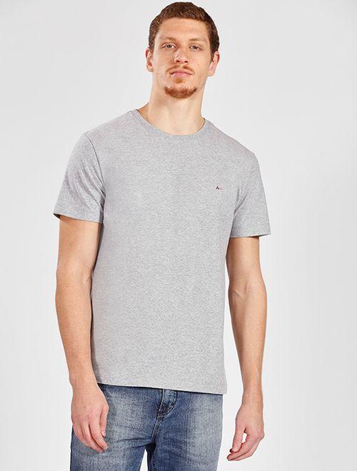 Camiseta Manga Curta Malha Antiviral Cinza Mescla