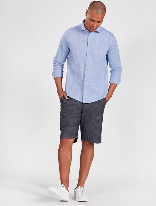 Camisa Manga Longa Linho Regular Jeanswear Azul