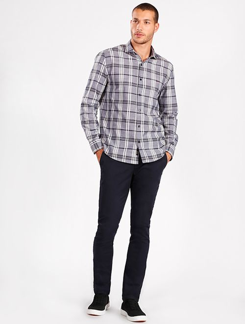 Camisa Manga Longa Jeanswear Slim Xadrez Marinho