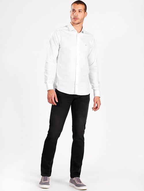 Camisa Manga Longa Social Super Slim Fio Egípcio Branco