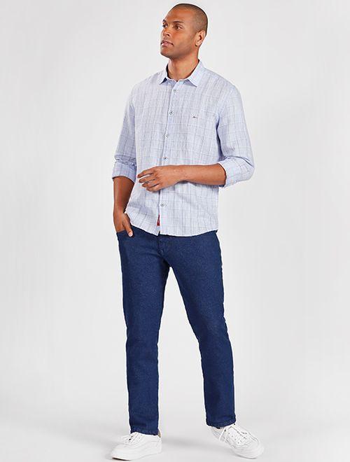 Camisa Manga Longa Jeanswear Slim Em Linho