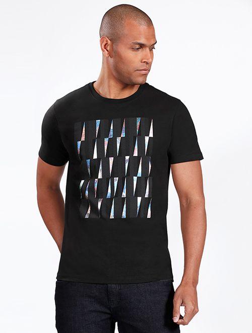Camiseta Foil Tridimensional Preto