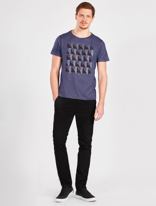 Camiseta Geométrica Maxi Marinho