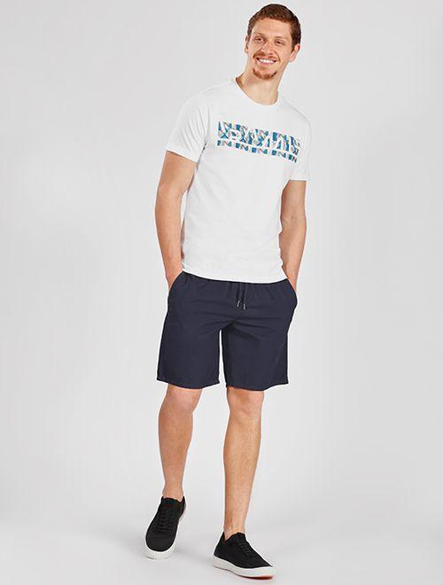 Camiseta Geométrica Relevo Branco