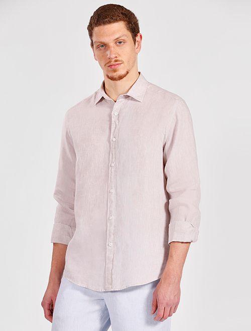 Camisa Manga Longa Jeanswear Slim Linho Irlandês Natural