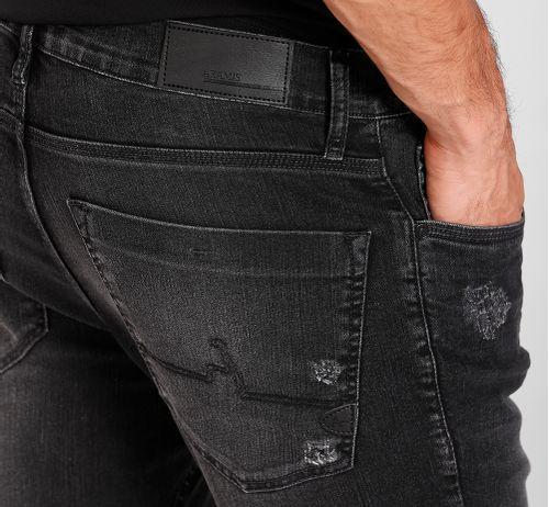 Calça Jeans  Skinny Estonada Black Preto