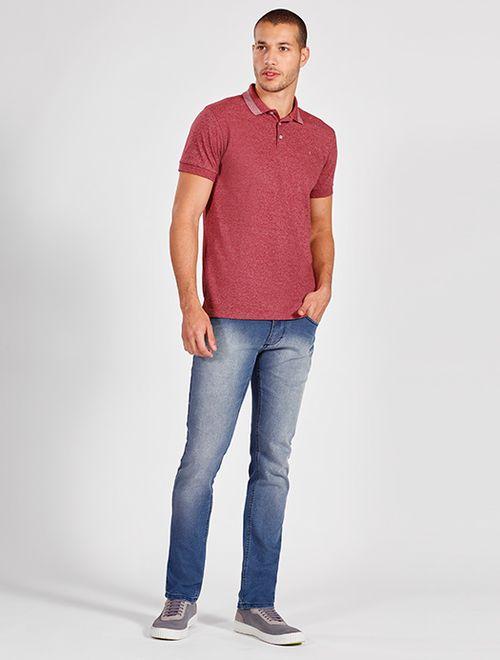Calça Jeans Regular Estonada 5 Pockets Azul