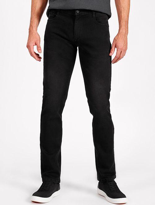 Calça Jeans Slim Estonada Com Fundo Preto Preto