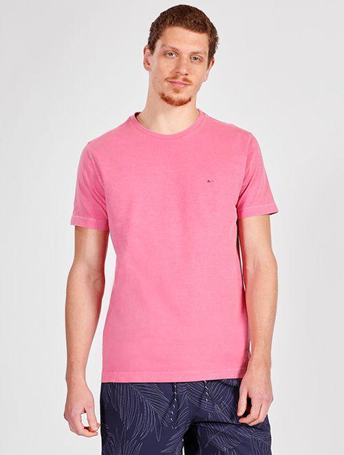 Camiseta Manga Curta Malha Stone Lisa Pink