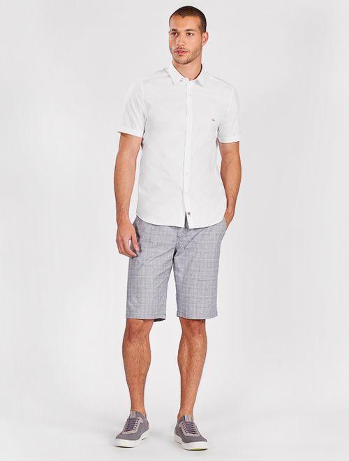 Camisa Manga Curta Night Super Slim Com Elastano Branco