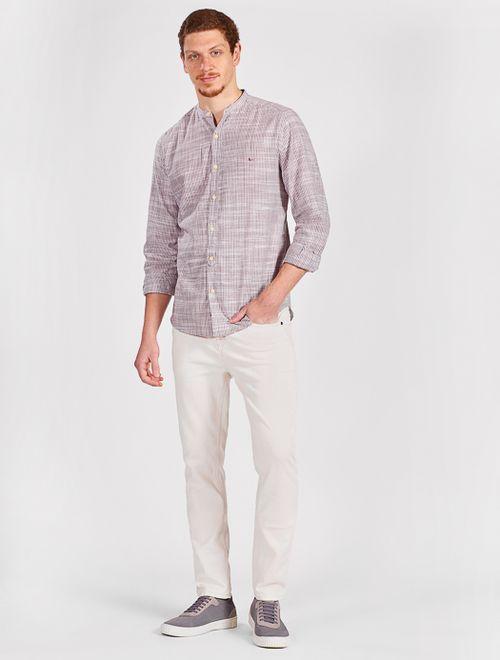 Camisa Manga Longa Listrada Regular Jeanswear Rosa