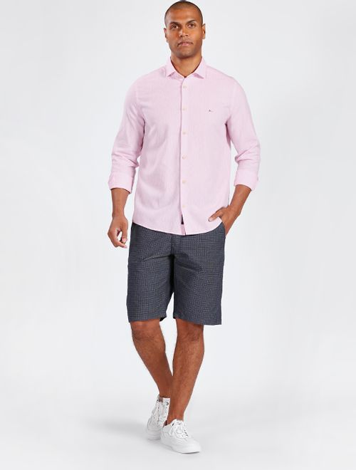 Camisa Manga Longa Linho Regular Jeanswear Rosa