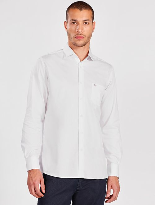 Camisa Manga Longa Social Regular Branco