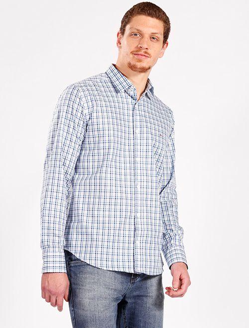 Camisa Mw Slim Xadrez (Mo) Azul