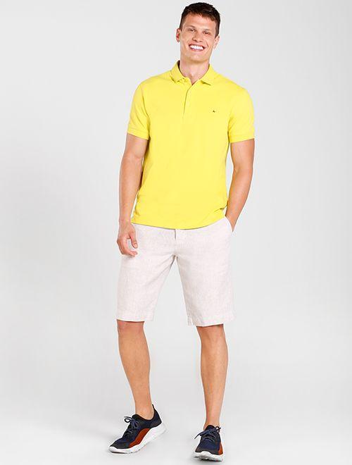 Polo Manga Curta Australian Cotton Color Amarelo