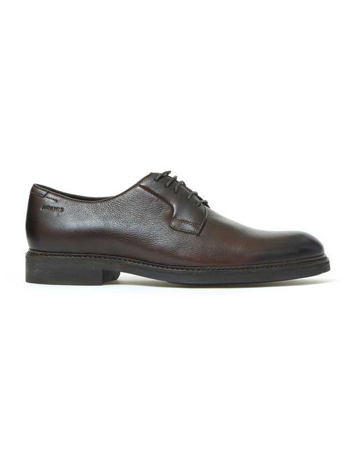 Sapato De Couro Liso Marrom