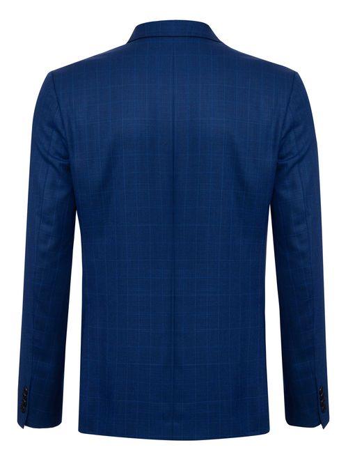 Costume Super Slim Azul Xadrez Azul