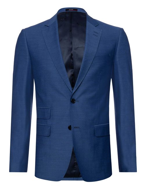 Costume Poliviscose Super Slim Liso Azul